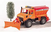 Игрушка - снегоуборочный автомобиль MB Unimog, М1:16, Bruder 02572