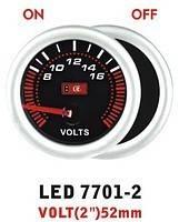 Тюнинговый автомобильный прибор Ket Gauge LED 7701-2 вольтметр