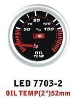 LED 7703-2 Тюнинговый автомобильный прибор Ket Gauge температура масла, фото 1