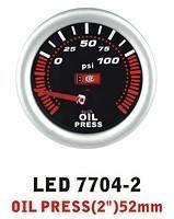 Тюнинговый автомобильный прибор Ket Gauge LED 7704-2 давление масла