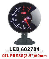 Тюнинговый автомобильный прибор Ket Gauge LED 602704 давление масла, фото 1
