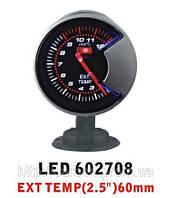Тюнинговый автомобильный прибор Ket Gaug LED 602708 температура выхлопных газов EGT