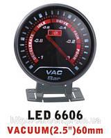 Тюнинговый автомобильный прибор Ket Gauge LED 6606 вакуум