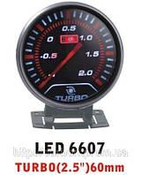 Тюнинговый автомобильный прибор Ket Gauge LED 6607 давление турбины