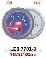 Тюнинговый автомобильный прибор Ket Gauge LED 7701-3 вольтметр