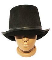 """Карнавальная шляпа """"Цилиндр"""" фетровая черная"""