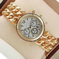 Женские наручные часы под золото мраморный циферблат