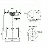Пневморессора Contitech 912np02