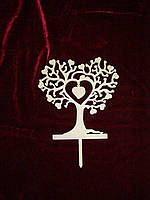 Топпер Дерево с сердцем (18 х 17 см), декор