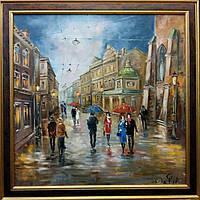 «Прекрасная музыка дождя. Виды Львова» картина маслом