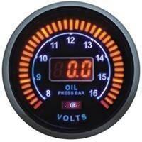 LED 96584 Тюнинговый автомобильный прибор Ket Gauge тахометр, давление масла, фото 1