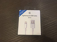 Шнурок для зарядки iPhone(MD818FE/A), lightning to usb cable(1 m)
