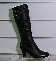 Сапоги женские зимние на каблуке на натуральном меху