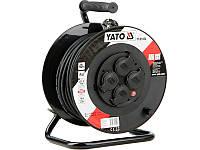 Удлинитель сетевой на катушке 40метров. Сечение 3х1,5мм². Yato YT-81054