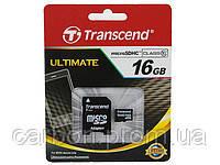 Карта памяти Transcend micro SD 16GB class 10 с SD