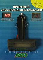 Цифровой автомобильный вольтметр с штекером в прикуриватель 12V AYRO