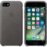 Чехол Apple Leather Case iPhone 7 Storm Gray (MMY12)