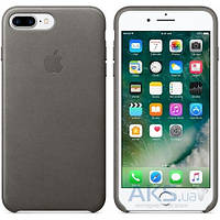 Чехол Apple Leather Case iPhone 7 Plus Storm Gray (MMYE2)