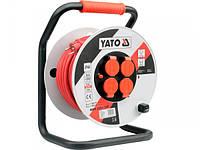 Сетевой удлинитель на катушке 40метров. Сечение 3х2,5мм² Yato YT-8107