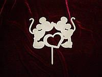 Топпер Микки Маус с сердцем (21 х 13 см), декор
