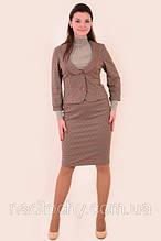 Костюм женский из стреч котона , полноразмерный , приталеный, молодежный , размеры 48-54, ( КОС 010).