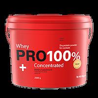 Протеин банановый 2500 грамм PRO 100%+ Whey Concentrated AB PRO ™