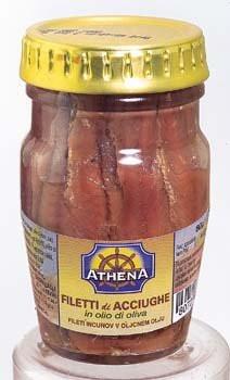Филе Анчоусов в оливковом масле Filetti di Alici Athena, 80 гр.