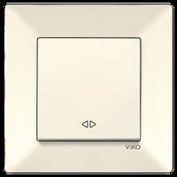 Выключатель 1-кл. перекрестный Viko Meridian крем