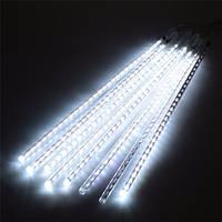 Гирлянда Метеоритный дождь/Тающие сосульки 50 см LED, цвет: холодный белый 3м