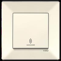 Выключатель 1-кл. проходной с подсветкой Viko Meridian крем