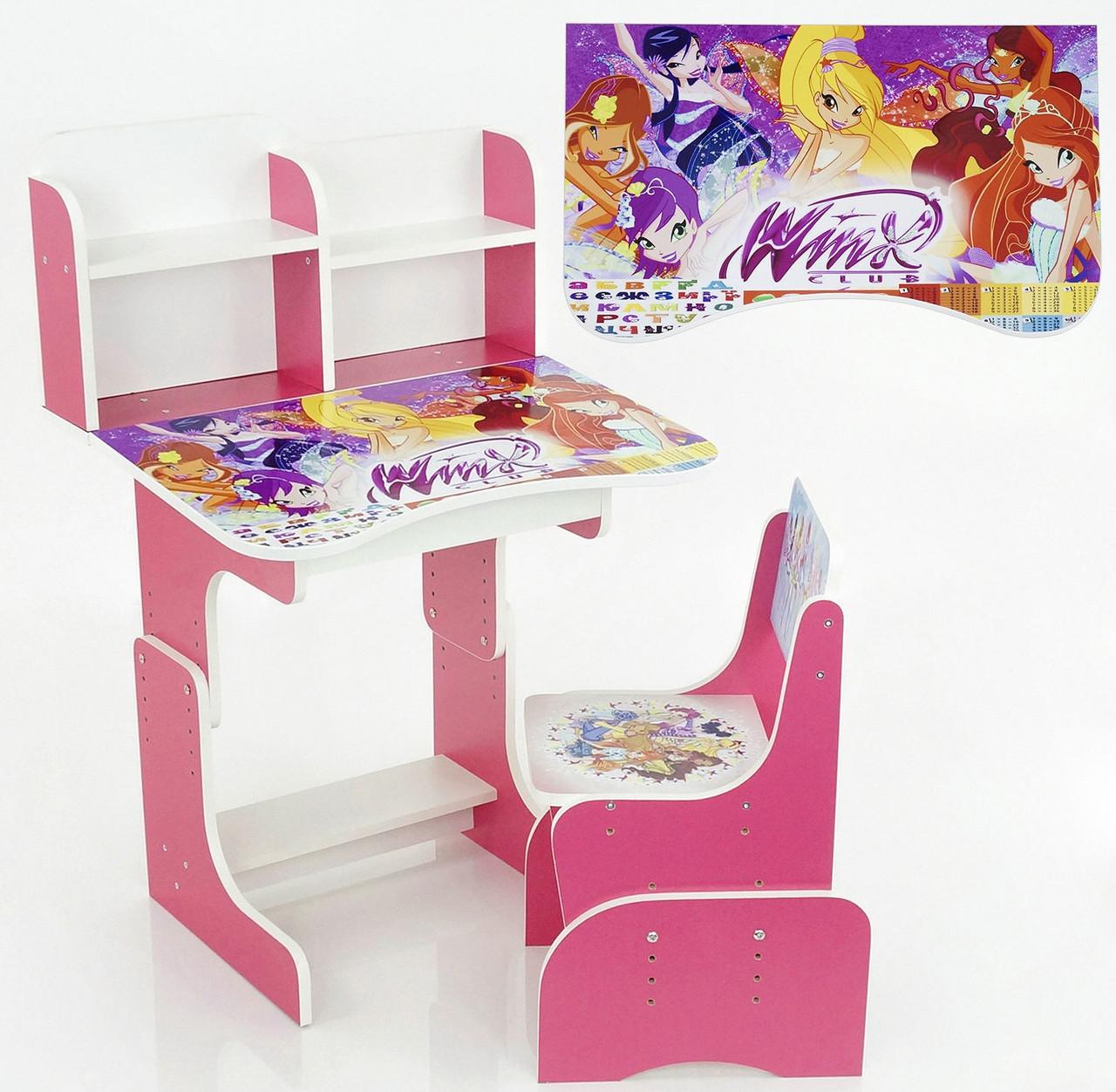 Парта растишка школьная Winx 013 розовая