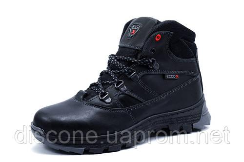 Зимние ботинки унисекс черные., натуральная кожа