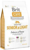 Беззерновой корм для пожилых собак с лишним весом Brit Care Senior Salmon & Potato