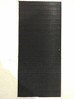 Полиуретан 290х130х6 черный рифленый