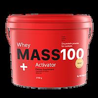 Гейнер на массу 3700 г MASS 100+ Whey Activator + шейкер в подарок!