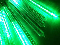 """Гирлянда метеоритный дождь """"Тающие сосульки"""" 30 см LED, зелёный"""