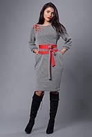 Женское платье из качественного плотного трикотажа