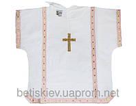 Рубаха крестильная с вышивкой (миткаль) р. 74-86