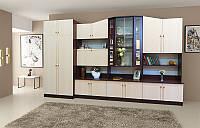 Гостинная Оскар светлый венге, готовая мебель в гостинную комнату 3600*2060*520