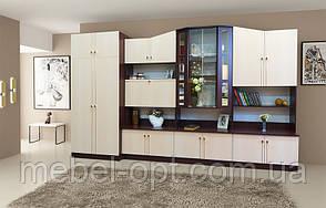 Вітальня Оскар світлий венге, готова меблі у вітальню кімнату 3600*2060*520