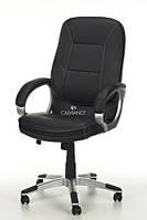 Офисное кресло ARTIX черное кожаное