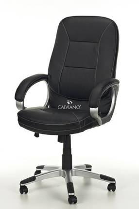 Офисное кресло ARTIX черное кожаное, фото 2