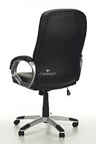 Офисное кресло ARTIX черное кожаное, фото 3