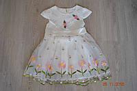 Детское нарядное белое платье для утренника