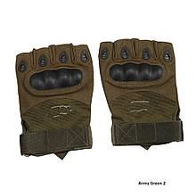 Тактичні рукавички Oakley Army Green безпалі