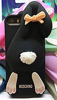 Силиконовый чехол Moschino Violetta Rabbit iPhone SE/5S/5