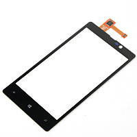 Тачскрин сенсорное стекло для Nokia Lumia 820 black