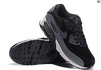 Кроссовки мужские Nike Air Max 90 (black/grey) suede - 50Z