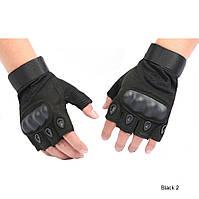Тактические перчатки Oakley Black беспалые