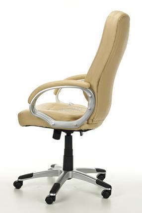 Офисное кресло ARTIX бежевое кожаное, фото 2